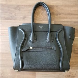 Celine Micro luggage handbag in smooth calfskin